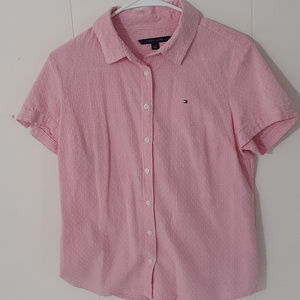 Tommy Hilfiger Pink Btn Down Short Sleeve Shirt